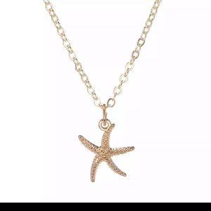 Womens starfish necklace